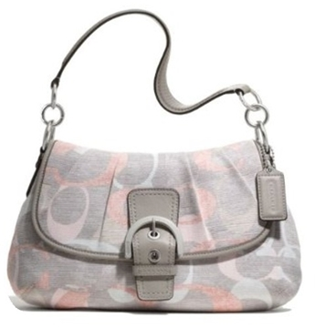 Picture of COACH Soho Optic Linen Pleated Flap Shoulder