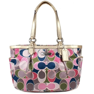 Picture of COACH Signature Gallery Scarf Print Tote