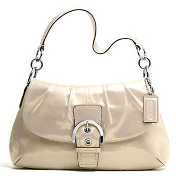 Picture of COACH Soho Silver Leather Flap Shoulder