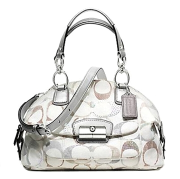Picture of COACH Kristin Embellished Signature Domed Satchel