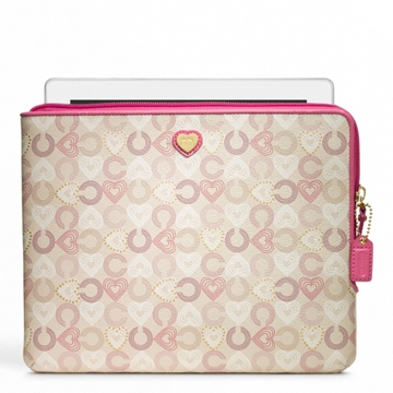 Picture of COACH Waverly Heart L-Zip iPad Sleeve