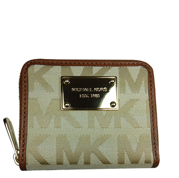 Picture of MICHAEL Michael Kors Zip-around Jacquard Wallet