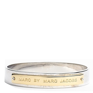 Picture of MARC by Marc Jacobs New Plaque Id Bangle Gold/Silver