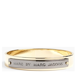 Picture of MARC by Marc Jacobs New Plaque Id Bangle Gold/Hematite