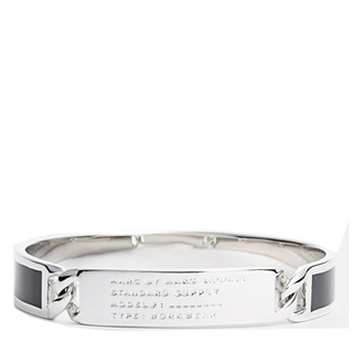 Picture of MARC by Marc Jacobs Standard Supply Id Bangle Black