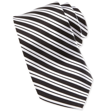 Picture of Neiman Marcus Variegated Bias Stripe Silk Tie