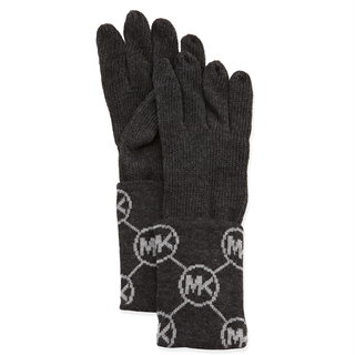 Picture of MICHAEL Michael Kors Knit Logo-Cuff Gloves Gray