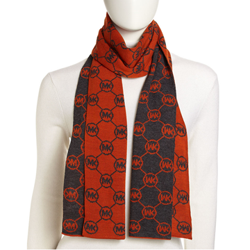 Picture of Michael Kors Circle-Logo Knit Scarf Orange