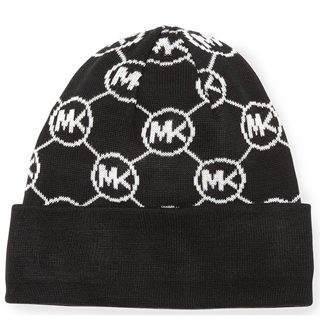Picture of Michael Kors Knit Logo-Cuff Hat Black