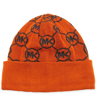 d52c912bf52 Picture of Michael Kors Knit Logo-Cuff Hat Orange