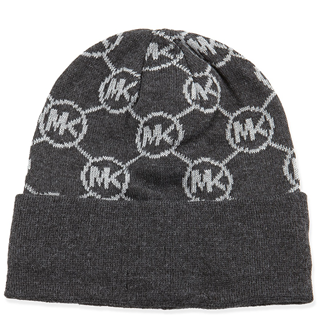 Picture of Michael Kors Knit Logo-Cuff Hat Derby Gray