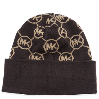 Picture of Michael Kors Knit Logo-Cuff Hat Chocolate