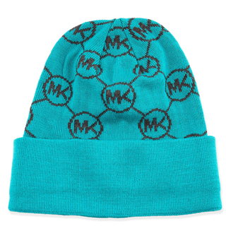 Picture of Michael Kors Knit Logo-Cuff Hat Turquoise