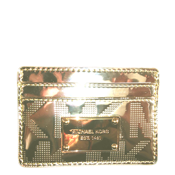 Picture of MICHAEL Michael Kors Item Card Case Metallic - boxed