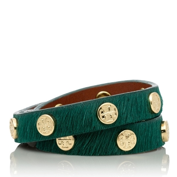 Picture of Tory Burch Logo Stud Double Wrap Bracelet