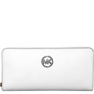 59cf59c31b8a5e Picture of MICHAEL Michael Kors Jet Set Travel Jewel Zip-around Continental  Wallet optic white