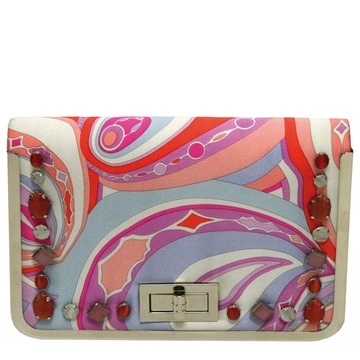 Picture of Mary Frances Aria-Pink Orange SQ Flap Clutch