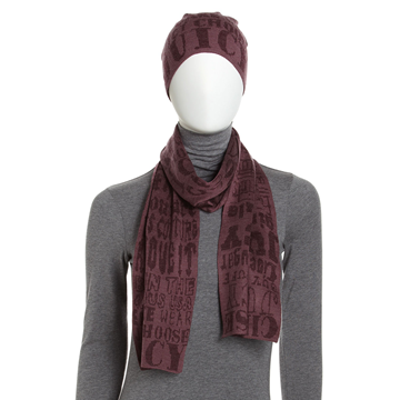 Picture of Juicy Couture Graffiti Knit Scarf and Hat