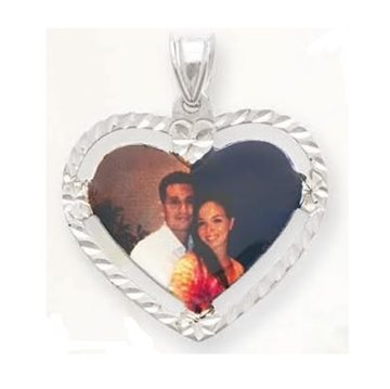 Picture of Heart Shaped Portrait Pendant