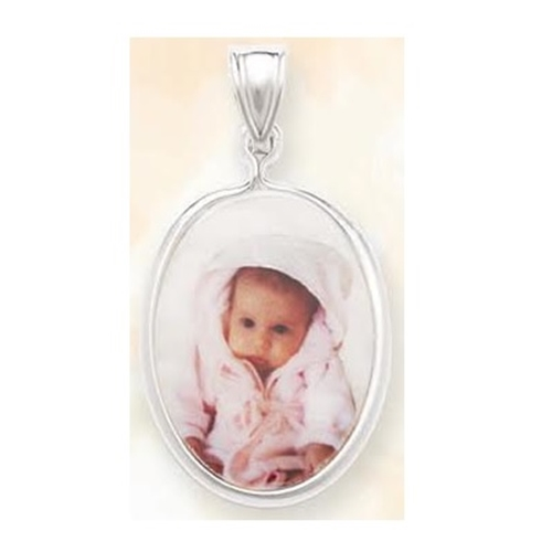 Picture of Oval Shaped Portrait Pendant