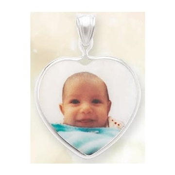 Picture of Heart Shaped Portrait Pendant - Bezel Frame