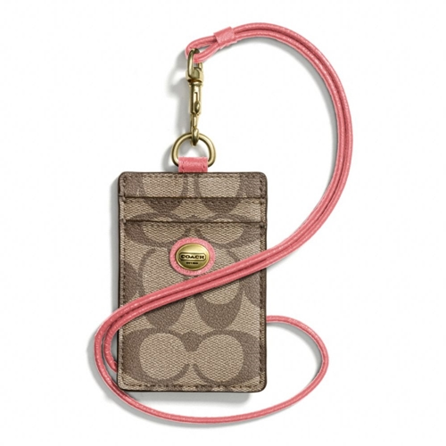 Picture of COACH Peyton Signature Lanyard Id