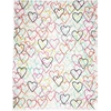Picture of kate spade new york hand-drawn hearts scarf