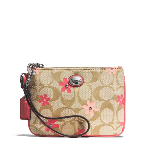 Picture of COACH Daisy Signature Floral Small Wristlet