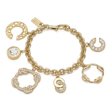Picture of COACH Op Art Knot Charm Bracelet
