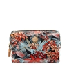Picture of Tory Burch Brigitte Printed Cosmetic Case, Tory Navy Calathea