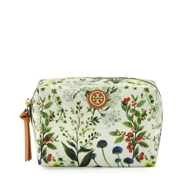 Picture of Tory Burch Brigitte Printed Cosmetic Case, Watercolor Botanical