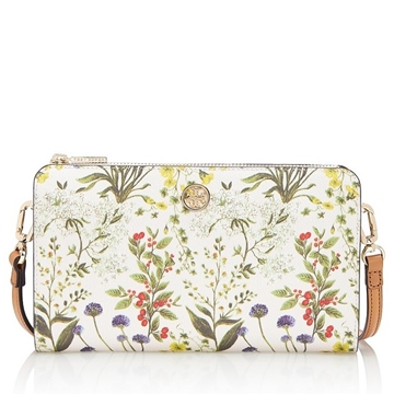 Picture of Tory Burch Robinson Printed Crossbody Wallet - Watercolor