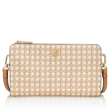 Picture of Tory Burch Robinson Printed Crossbody Wallet - Rattan
