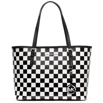 Picture of MICHAEL Michael Kors Jet Set Checkerboard Small Travel Tote