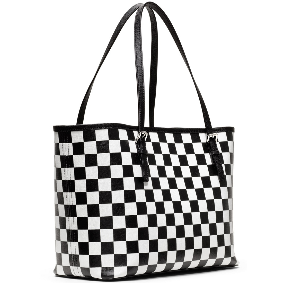9bc950a9d25a49 Michael Kors Black And White Checkerboard Purse | Stanford Center ...