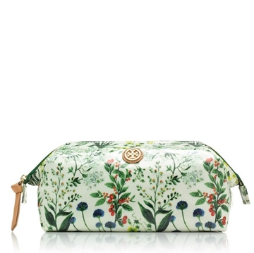Picture of Tory Burch Large Molded Cosmetic Case - Watercolor Botanical