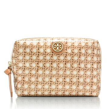 Picture of Tory Burch Brigitte Printed Cosmetic Case - Rattan