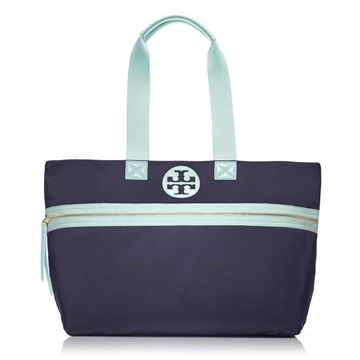 Picture of Tory Burch Soft Nylon Tote - Geyser