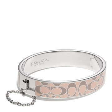 Picture of COACH Signature C Chain Hinged Bangle