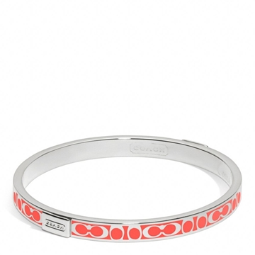 Picture of COACH Thin Signature Bangle Hot Orange