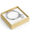 Picture of Michael Kors Heart/Lock Charm Bangle Set Silver