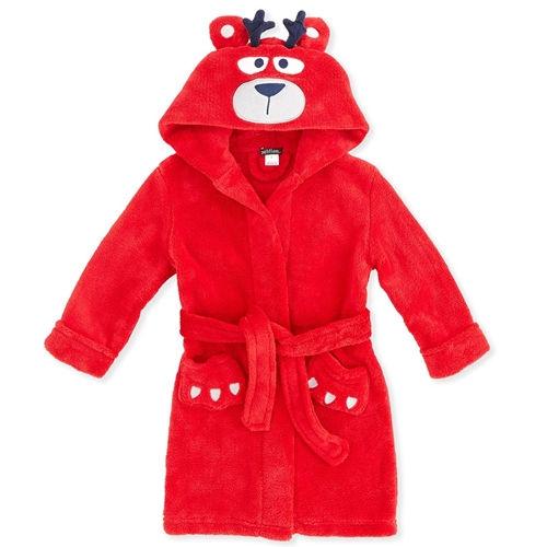 Picture of Petit Lem Plush Hooded Robe Reindeer Bear