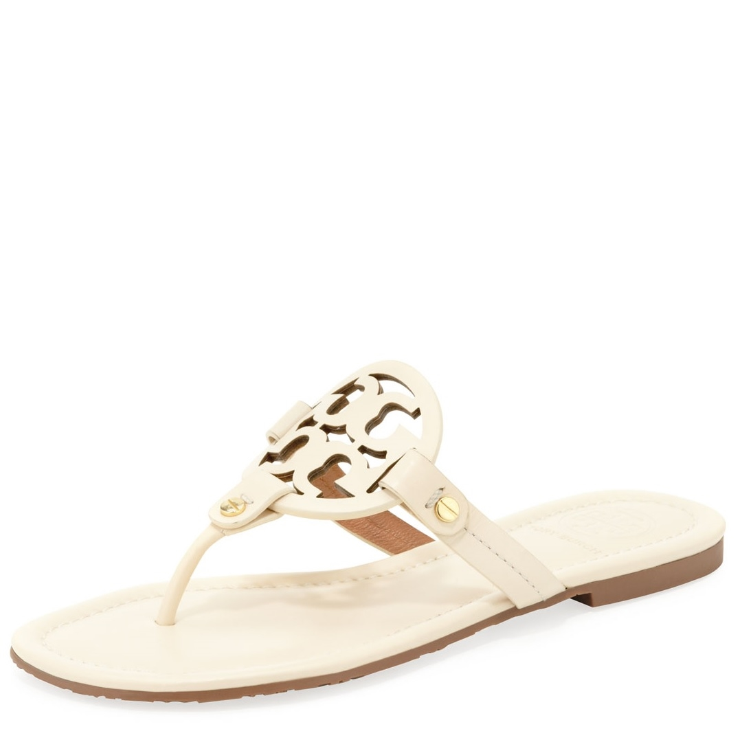4732bca4c949 Picture of Tory Burch Miller Logo Thong Sandal