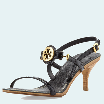 Picture of Tory Burch Mira Slingback Logo Sandal