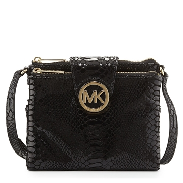 Picture of MICHAEL Michael Kors Large Fulton Python-Embossed Crossbody Bag