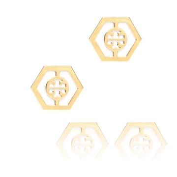 Picture of Tory Burch Caroline Button Earrings