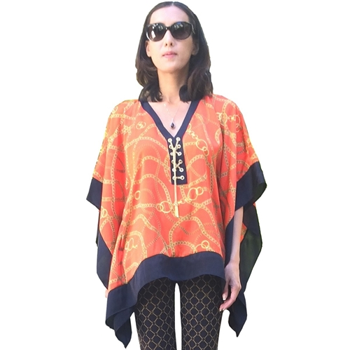 Picture of MICHAEL Michael Kors Laceup Chain Poncho