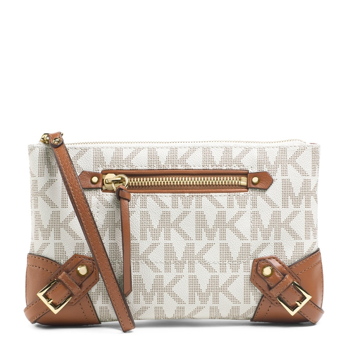 21d74d402ef85 Picture of MICHAEL Michael Kors Large Fallon Zip Clutch