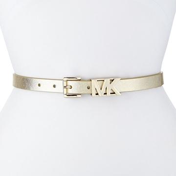 Picture of MICHAEL Michael Kors Saffiano Logo Buckle Belt - Gold