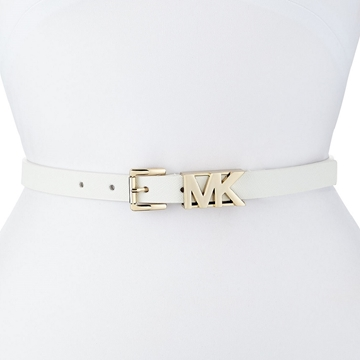 Picture of MICHAEL Michael Kors Saffiano Logo Buckle Belt - White